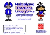 Multiplying Fractions Scoot Game (CCSS Aligned)