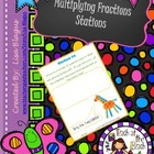 Multiplying Fractions Station Activity; Fun Review for Groups