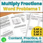 Multiplying Fractions: Word Problems Pack 1 (5.NF.4, 5.NF.