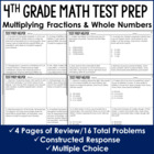 Multiplying Fractions by Whole Numbers Word Problems {Comm