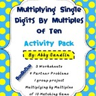 Multiplying Single Digits By Multiples of Ten Activity Pac
