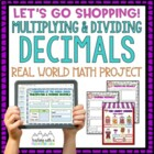 Multiplying and Dividing Decimals Let&#039;s Go Shopping Activi