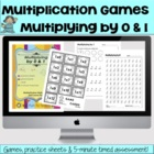 Multiplying by 0 & 1 - Math Games and Lesson Plan