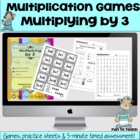 Multiplying by 3 - Math Games and Lesson Plan