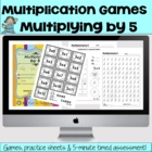 Multiplying by 5 Games and Lesson Plan