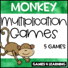 Munching Monkey Multiplication Board Games