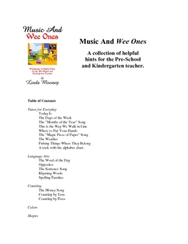Music And Wee Ones Freebie