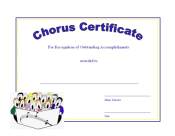 Music Award Certificates