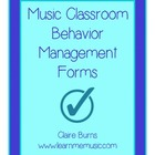 Music Classroom Behavior Management Forms