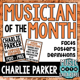 Music Composer of the Month: Charlie Parker Bulletin Board Pack