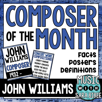 Music Composer of the Month: John Williams Bulletin Board Pack