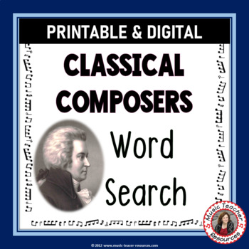 Music: Composers of the Classical Era Word Search