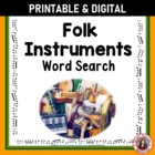 Music: Folk Instruments Word Search