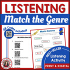 Music Genres Listening Activities with QR codes
