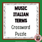 Music: Italian Terms Crossword Puzzle