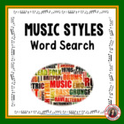 Music: Music Styles Word Search