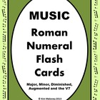 Music Roman Numeral Chord Flash Cards