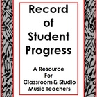 Music: Student Record of Progress Sheet