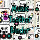 Music Teacher Binder Covers and Labels-White Background Ra