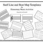 Music Teacher&#039;s Toolbox - Staff and Beat Map Templates