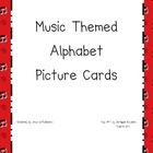 Music Themed Alphabet Cards