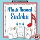 Music Themed SUDOKU Puzzles 4 x 4