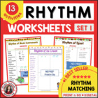 RHYTHM: 12 RHYTHM Worksheets