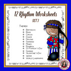 Music Theory: 12 RHYTHM Worksheets Set 3