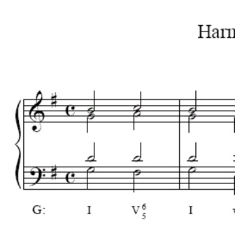 Music Theory Harmonic Dictation 3