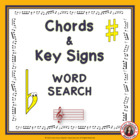 Music Theory: Word search - Chords and Key signatures