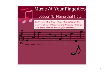 Music Unit for the SMARTboard:  Music At Your Fingertips