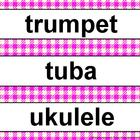 Music Word Wall Kit Fushia Gingham