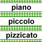 Music Word Wall Kit Green Gingham