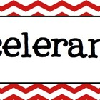 Music Word Wall (Red Chevron)