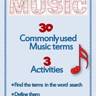 Music Word search: Words used in Music