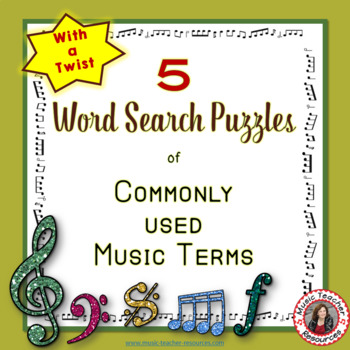 Music: Word search of commonly used terms