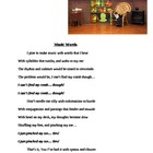 &quot;Music Words&quot; A Silly Poem that Shows Rhythm
