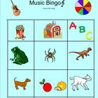 Music bingo for young students