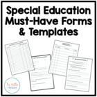 Must-Have Forms and Templates for a Special Education Class