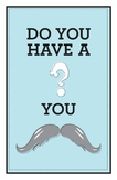 Mustache Question Blue