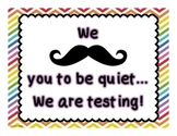 Mustache Testing Poster - Rainbow Color Theme