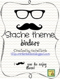 Mustache theme binder folder covers {a place to stache the