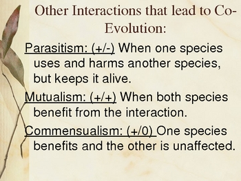 Mutualism, Parasitism, and Commensualism Powerpoint