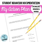 My Action Plan - Documentation for Behavior Modification i