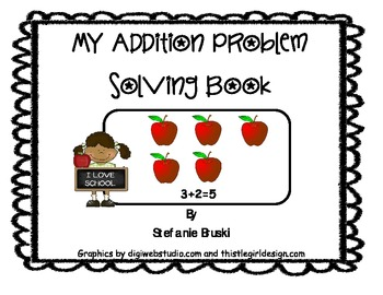 My Addition Word Problem  Book
