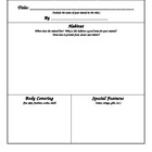 My Animal Report Graphic Organizer