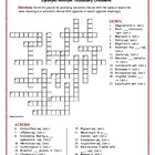 My Antonia: Synonym/Antonym Vocabulary Crossword--Fun & Unique!