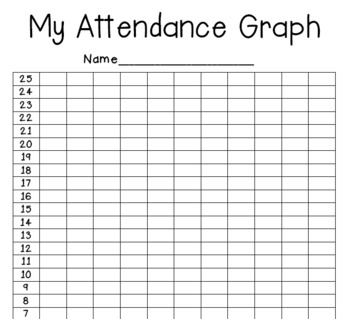 My Attendance Graph for Student Data Notebooks