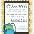 &quot;My Backpack&quot; Emergent Reader and Sight Word Set