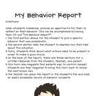 My Behavior Report
